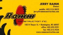 Jerry Ramm - Ramm Construction - Omaha Custom Home Builder