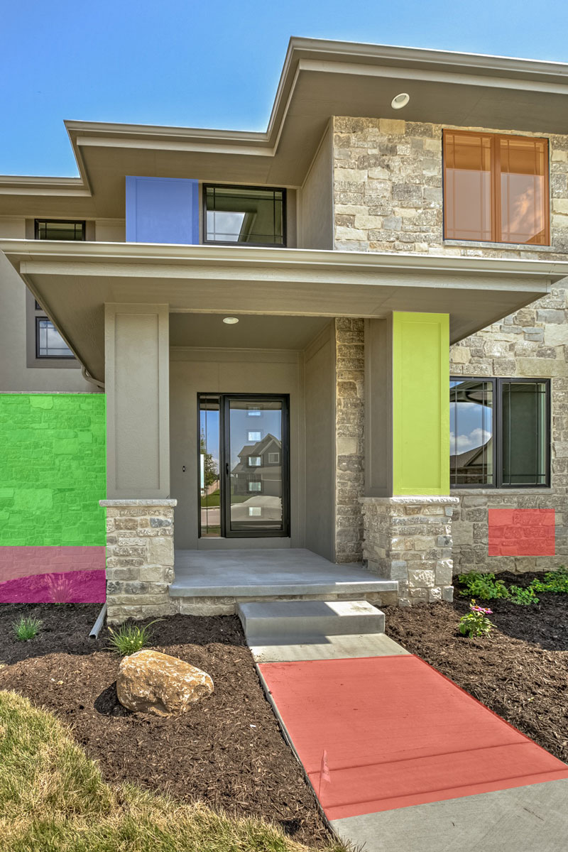 Features ramm construction omaha custom home builder for Exterior features of a house